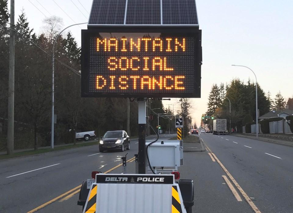 city of delta covid-19 sign