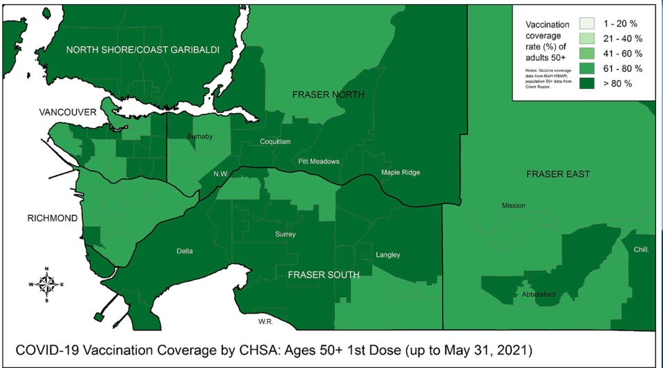 city of delta covid-19 vaccination rate of may 31, 2021