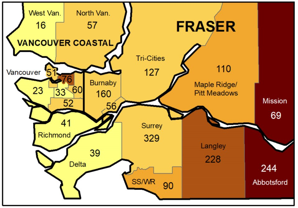 COVID case map Oct 3 to 9