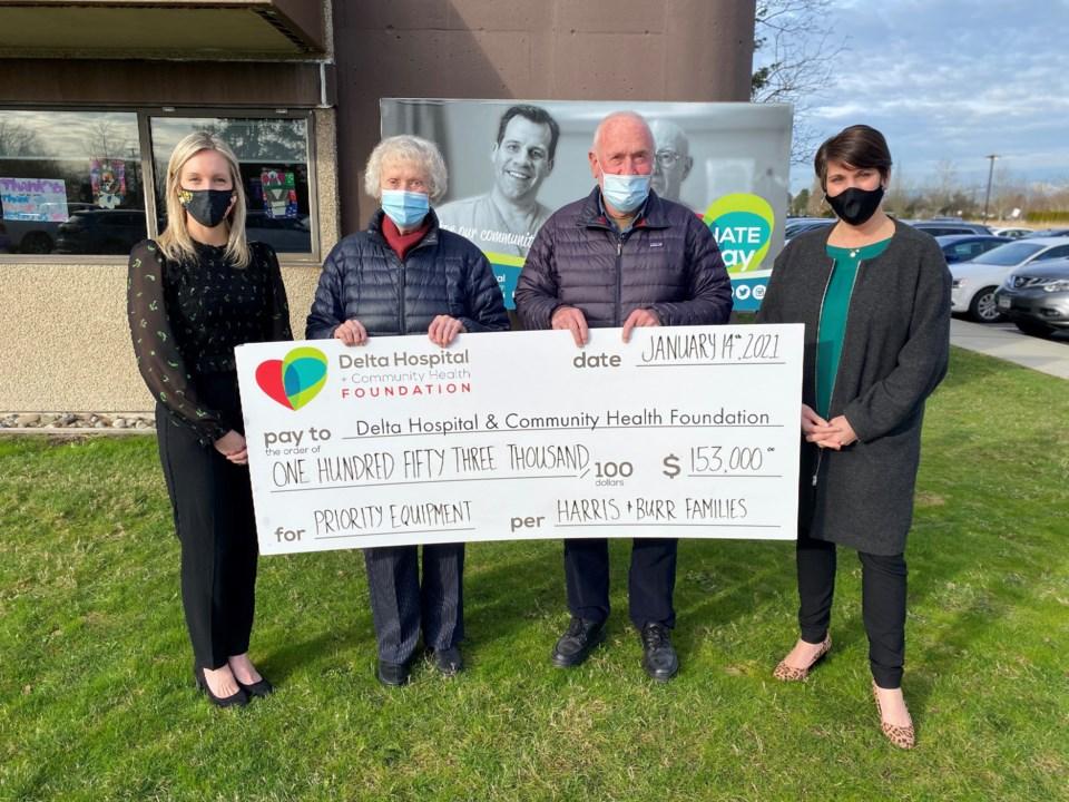 David Harris hospital donation