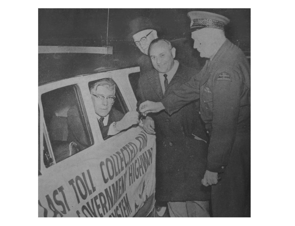 george massey pays last toll at tunnel in 1964