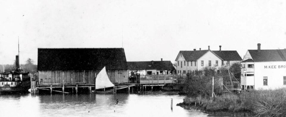 ladner, bc harbour 1900