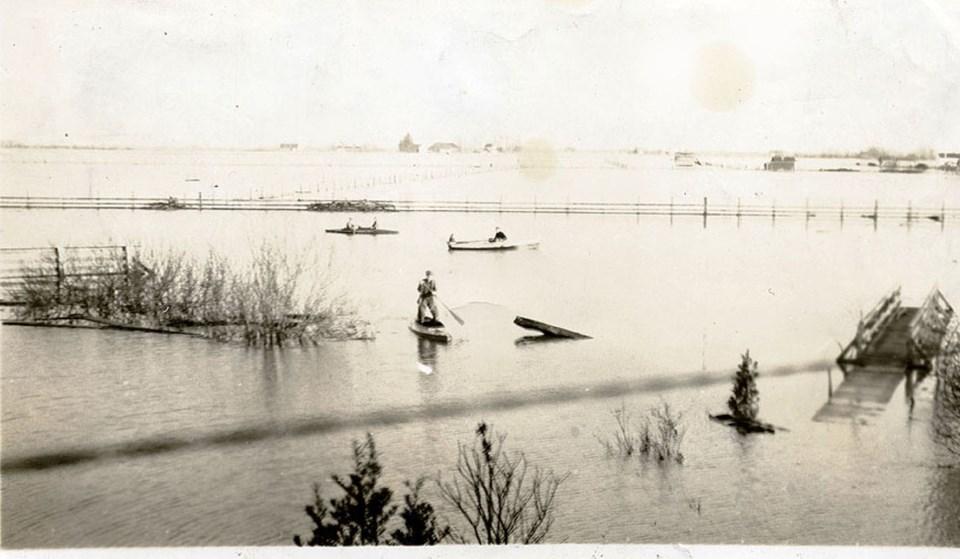 westham island flood 1933