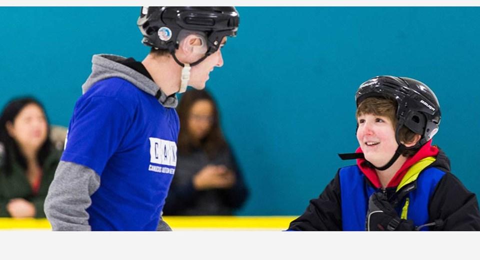 canucks autism network skate