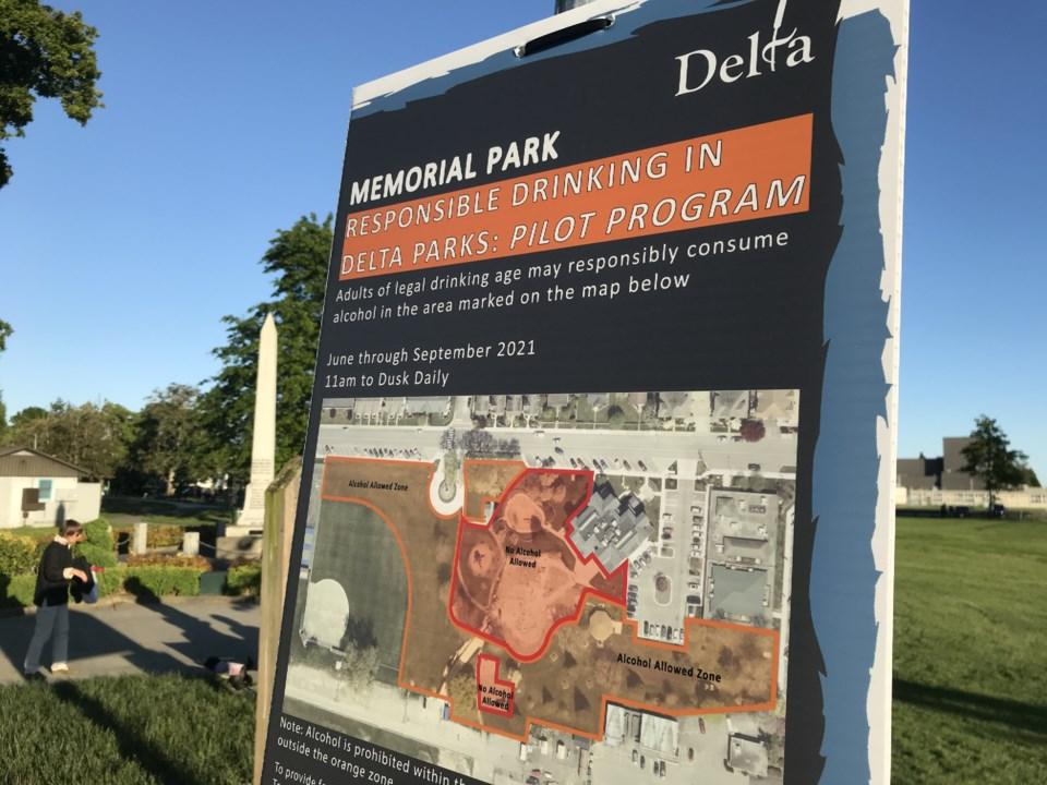 delta park drinking pilot program