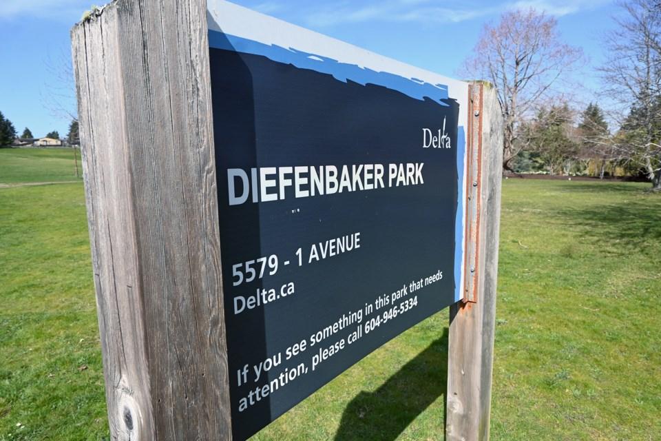 Diefenbaker Park sign