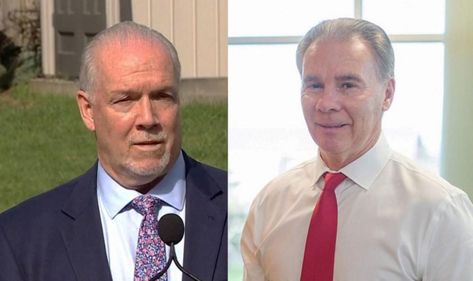 BC Premier John Horgan & Delta Mayor George Harvie
