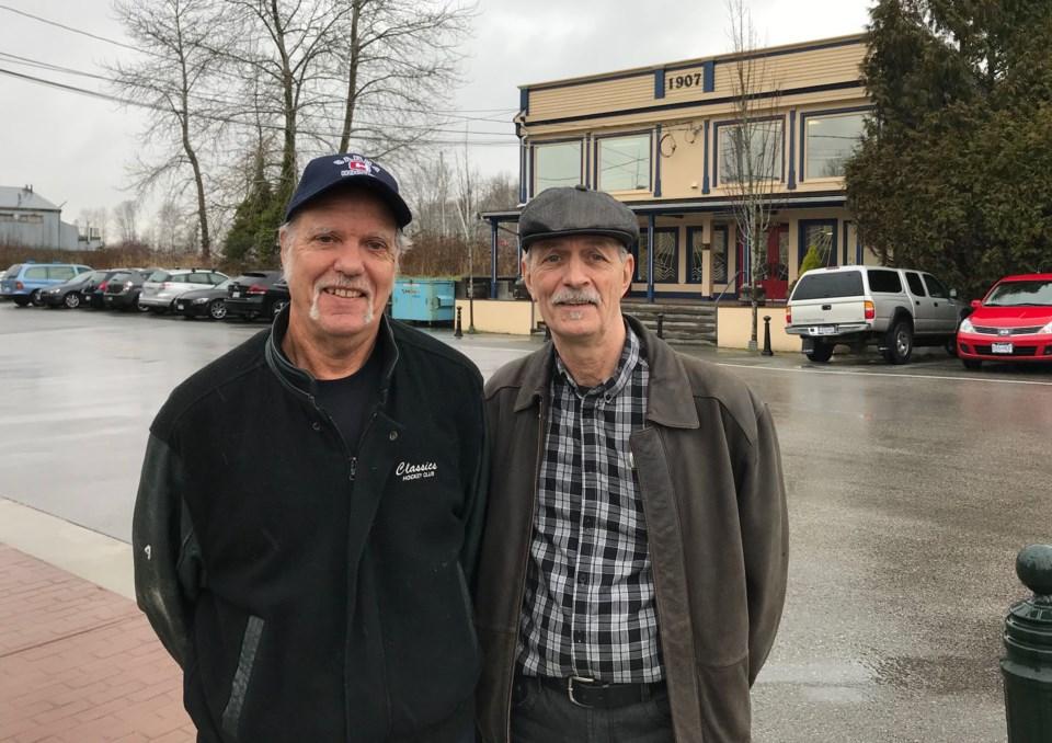 delta mural society -john stevens left &  richard mayor