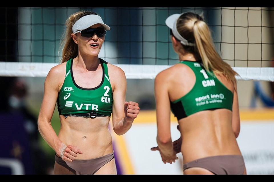 Tsawwassen's Megan and Nicole McNamara finished ninth in their first FIVB World Tour event in nearly two years last week in Sochi, Russia.