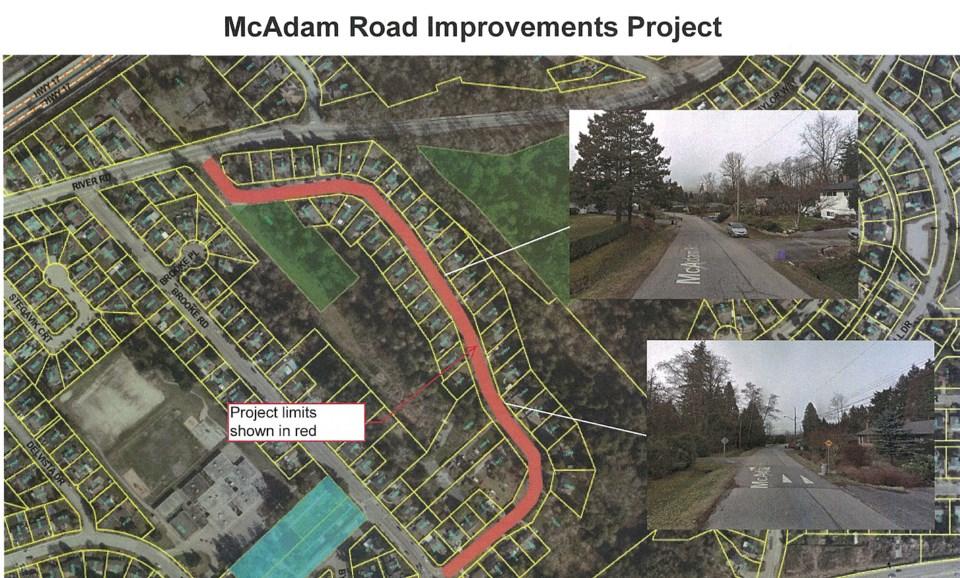 north delta mcadam road project