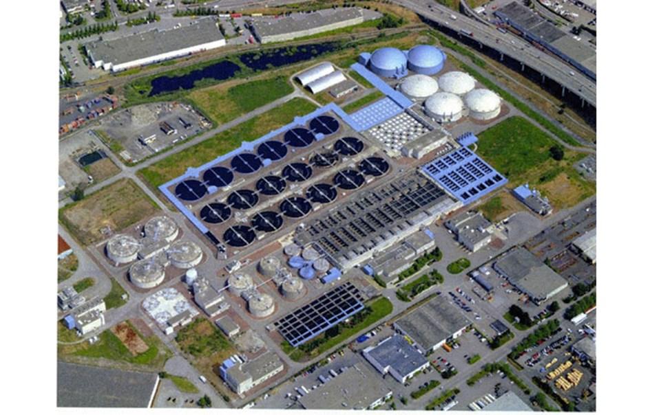 annacis island wastewater treatment plant, delta bc