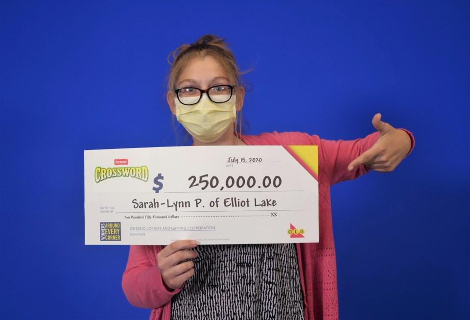 Sarah-Lynn Pearse of Elliot Lake
