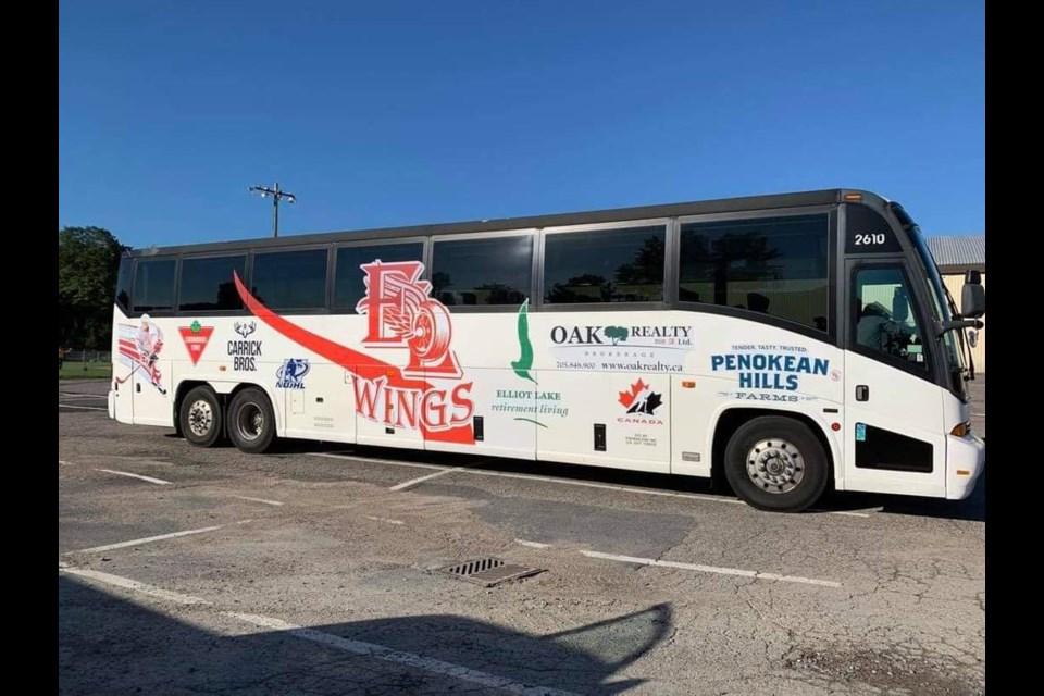 New Elliot Lake Red Wings team bus