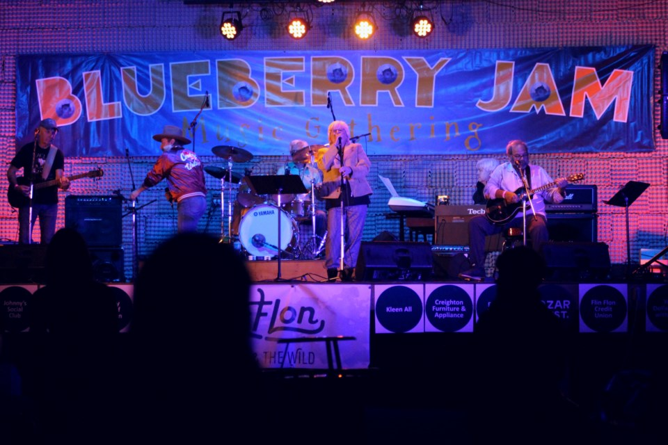 The Mix, one of the last bands of the night, packed the dancefloor after dark at the one-night-only Blueberry Jam Sept. 4.