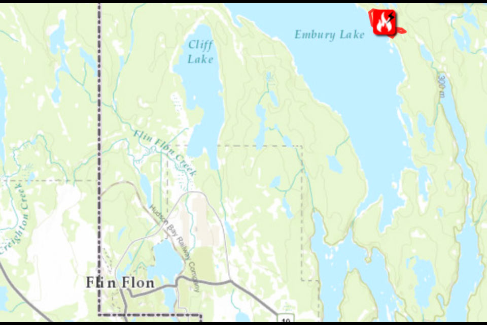 The Manitoba Fireview map (as of Oct. 6) shows the small fire near Trout Lake.