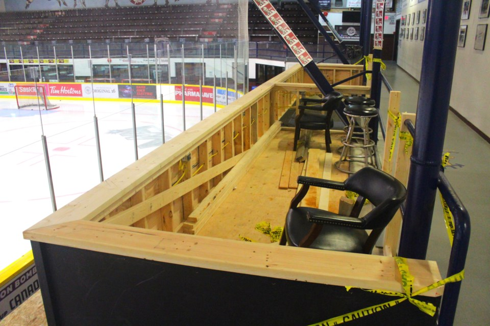 A new accessible spectator area has been built at the Whitney Forum, not far from the arena's main entrance.