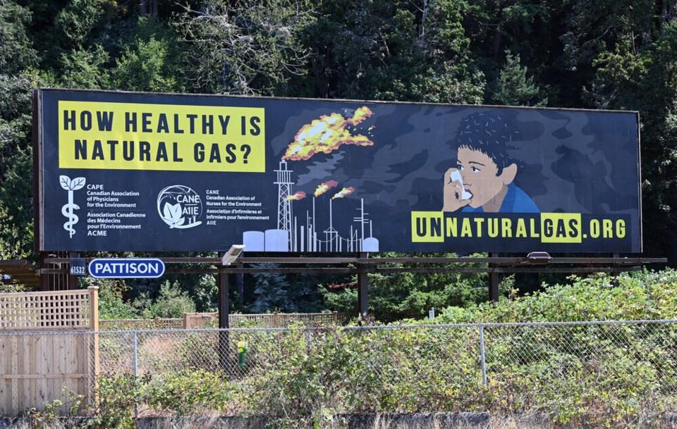 anti-natural gas billboard