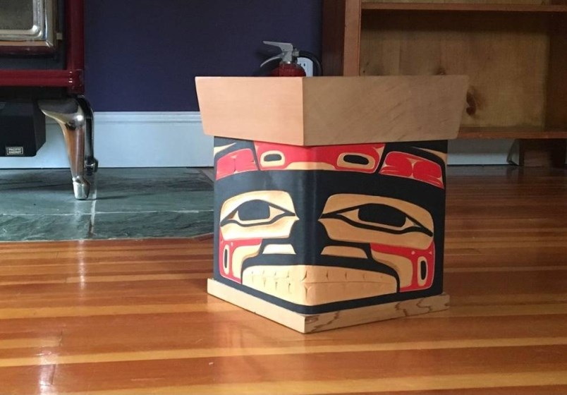 A bentwood box containing the ashes of her mother was taken from Madeline Milne's Victoria home some time between July 27 and Aug. 1, 2021.