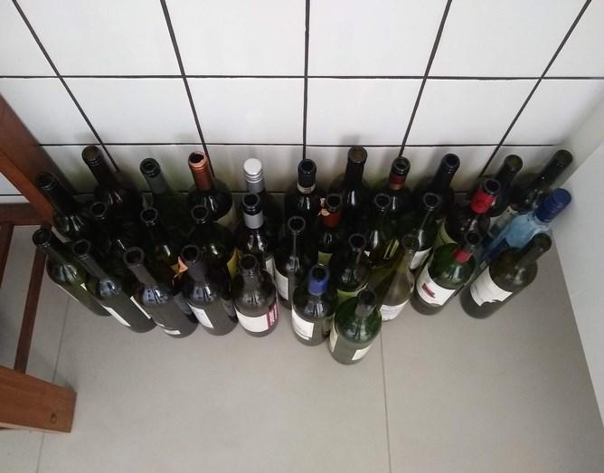 wine bottles empties
