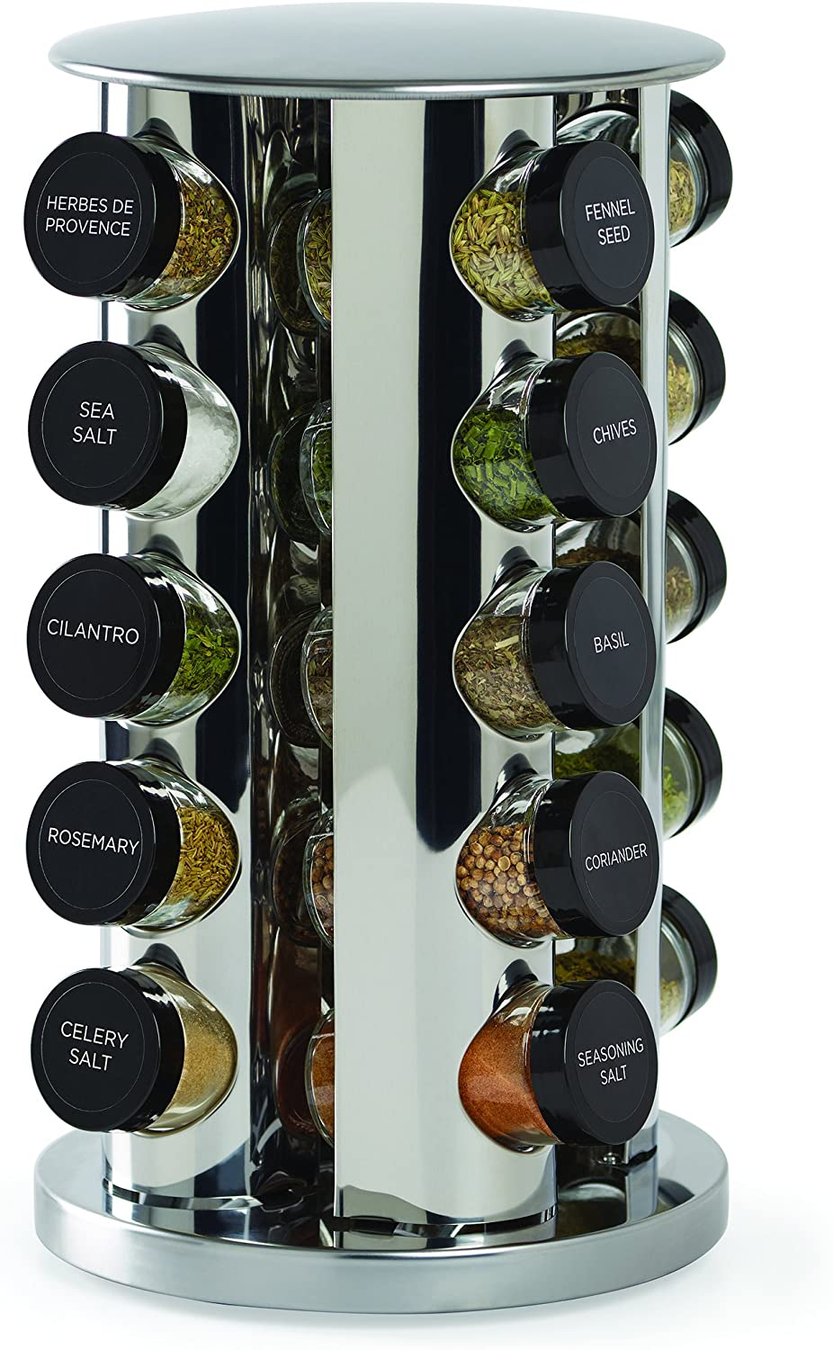 Turning spice rack (loaded).