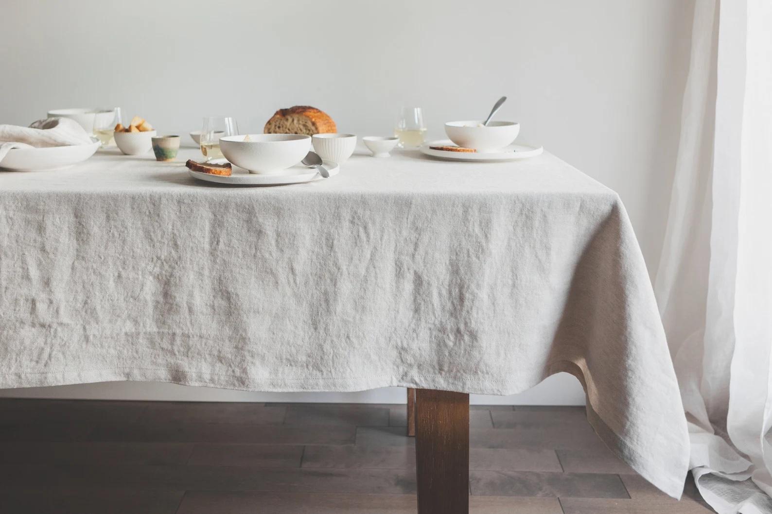 Etsy linen tablecloth.