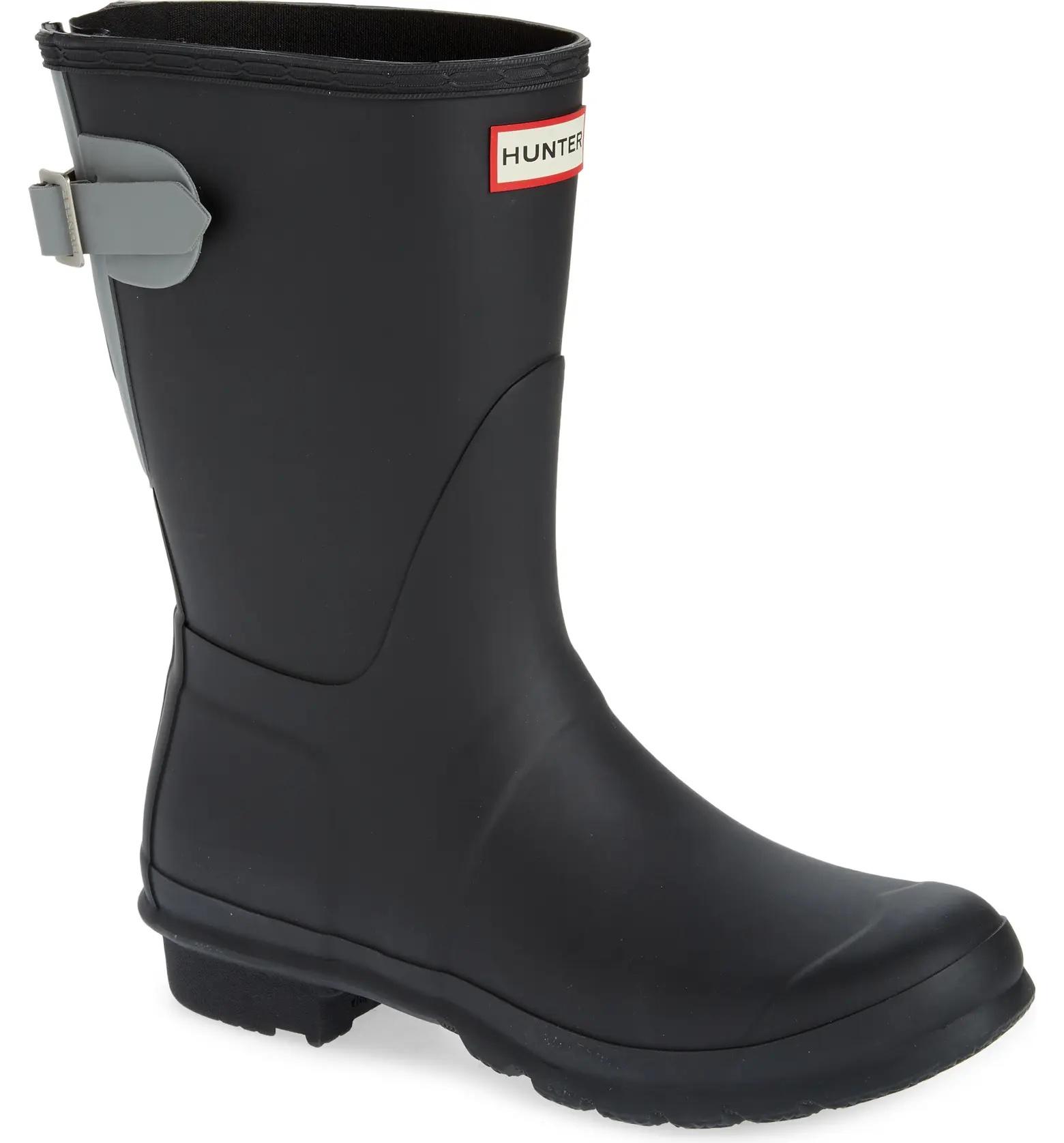 Hunter rain boot.