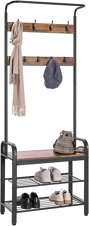 Industrial coat rack.
