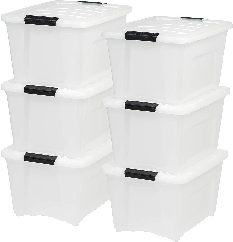 Large storage bins.