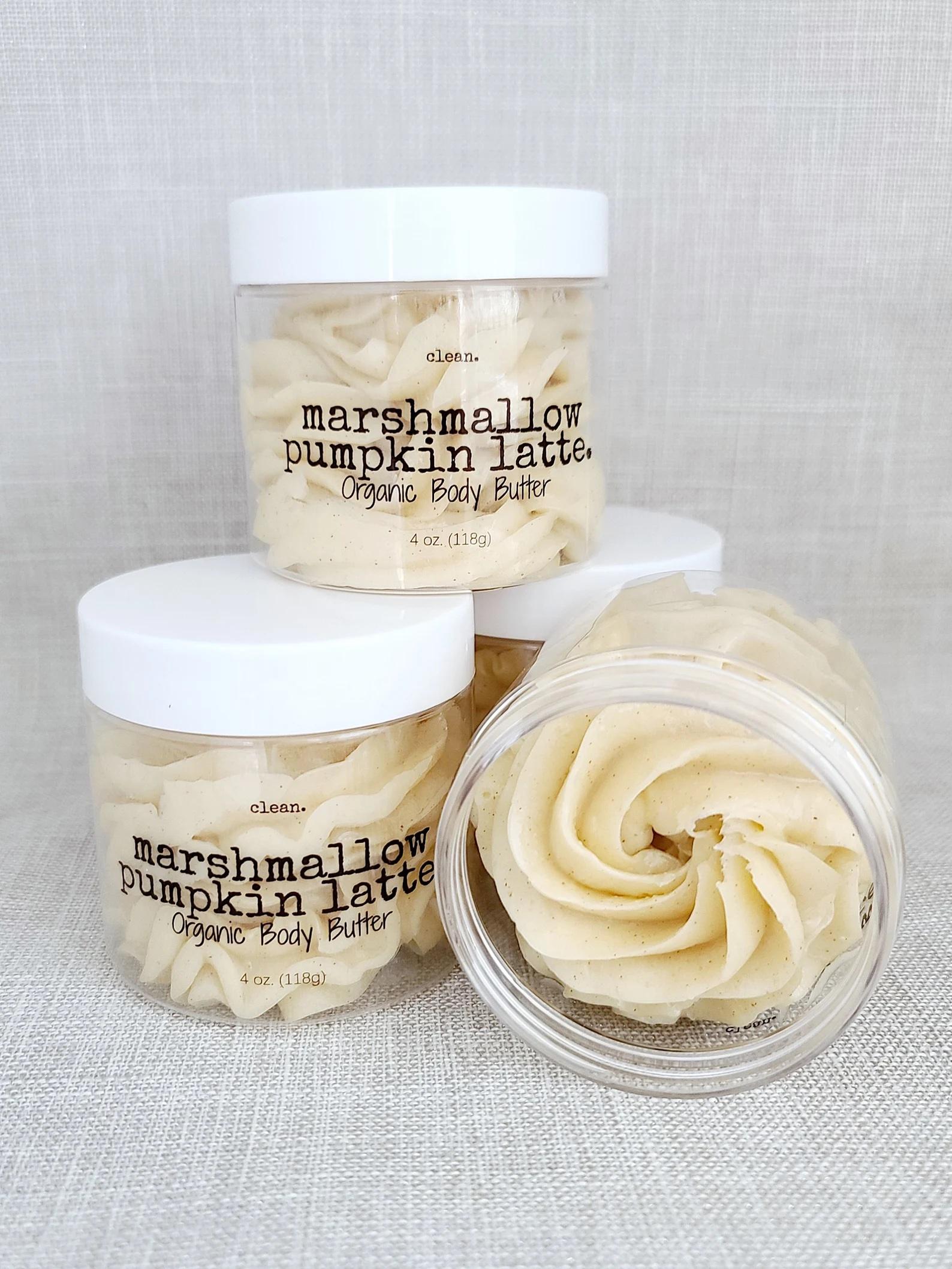 Marshmallow pumpkin spice body butter.
