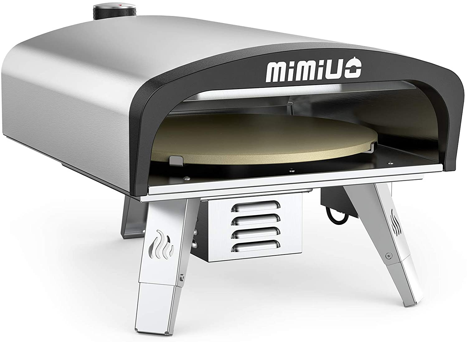 Gas pizza oven.