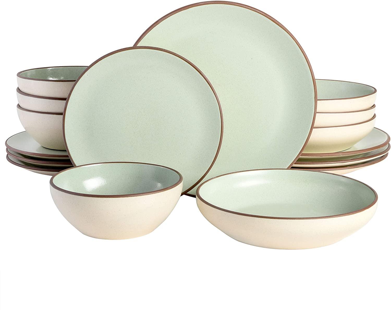 Mint terracotta plates.