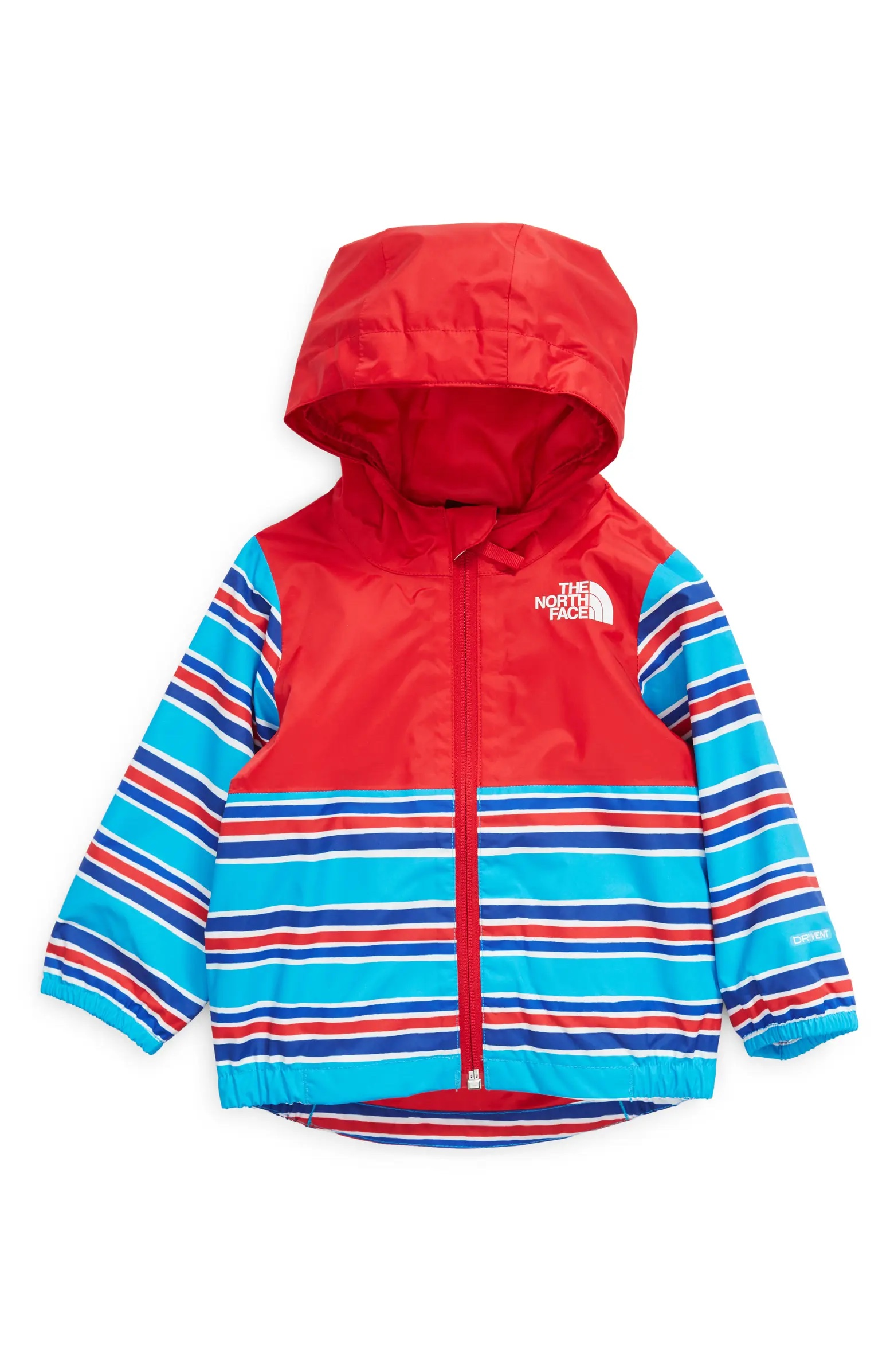 North Face striped jacket.