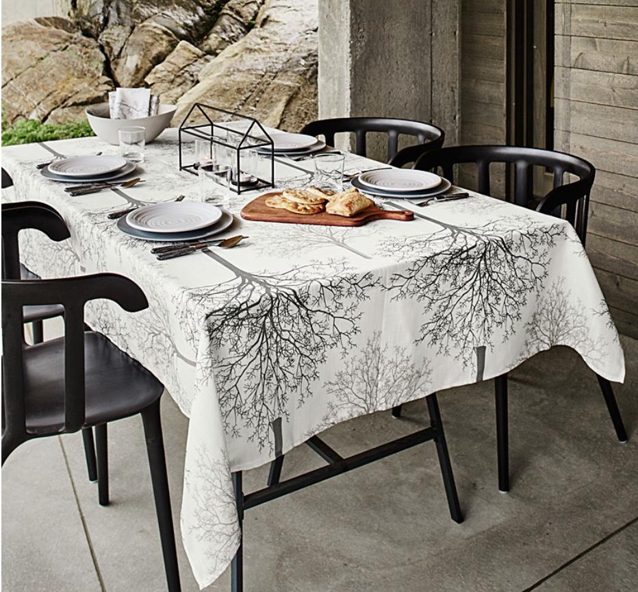 Tree tablecloth.