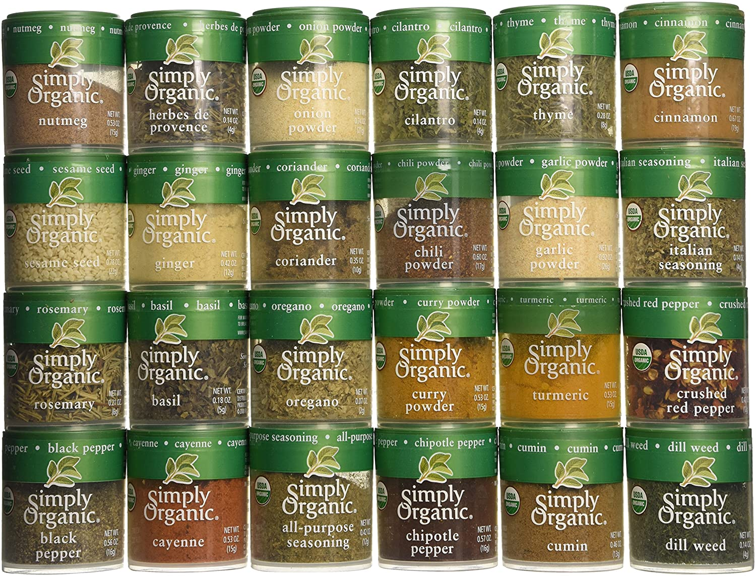 Simply Organic spice collection.