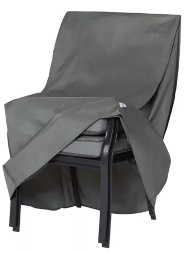 Stackable chair cover.