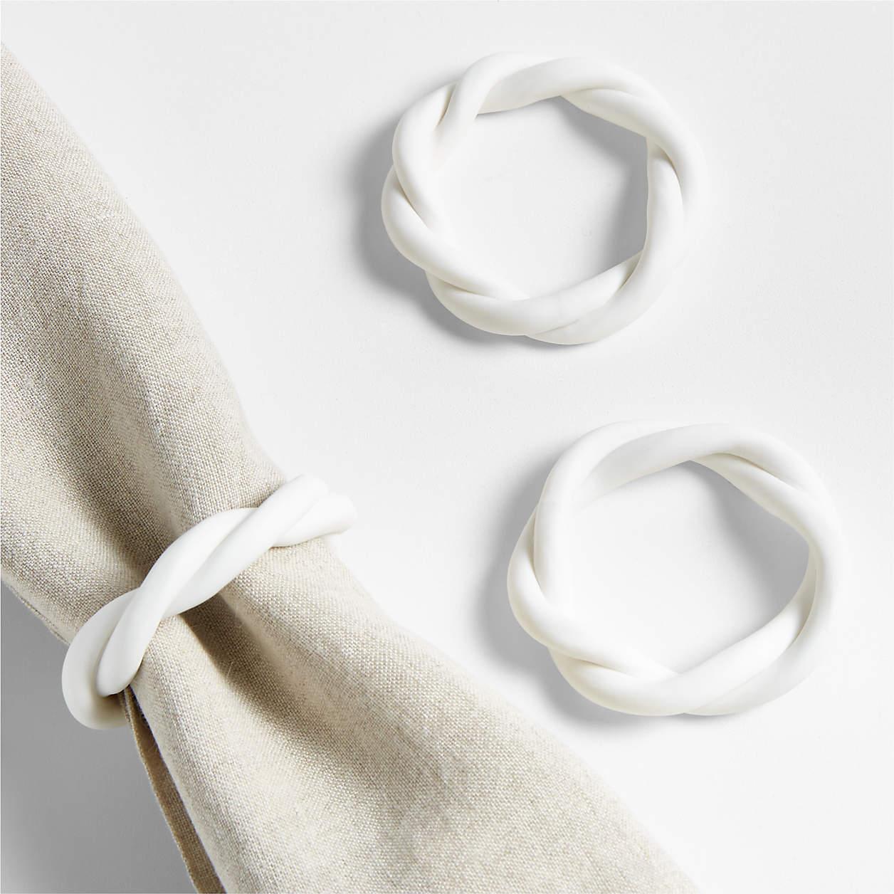 Woven napkin rings.