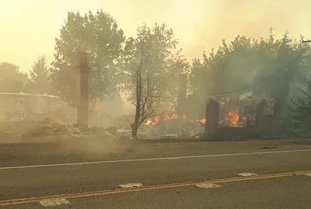 A photo of the devastation.
