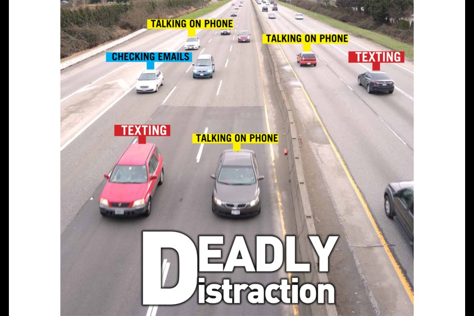 With the number of distracted drivers spiralling out of control in Richmond, the News looks at the risks people are taking every time they get behind the wheel