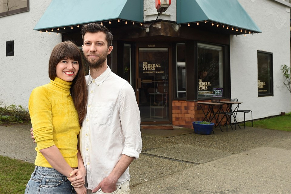 A new breed of neighbourhood shops such as Colette Griffiths and Chris Allen's Federal Store are bringing back convenience and community to residential areas. Photo Dan Toulgoet
