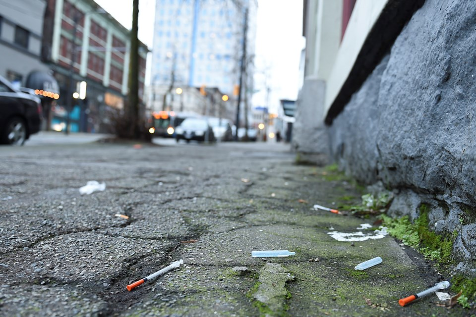 Vancouver Coastal Health collected more than 250,000 used syringes in the city last year. Vancouver has had needle exchanges since the mid-1980s and a supervised injection site since 2003. Photo Dan Toulgoet