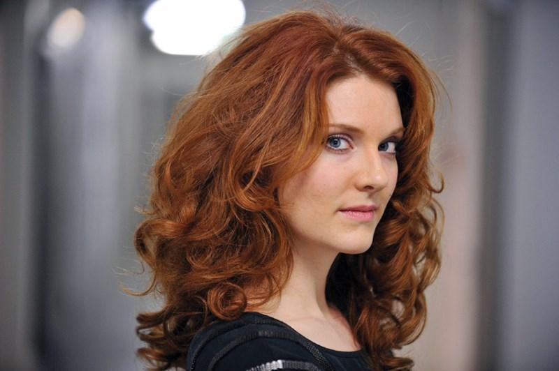 Mireille Lebel performs as Cherubino in Mozart's Le nozze di Figaro at the Vancouver Opera Festival.