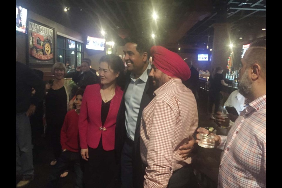 BC Liberals' Jas Johal happy with supporters in his Richmond-Queensborough riding
