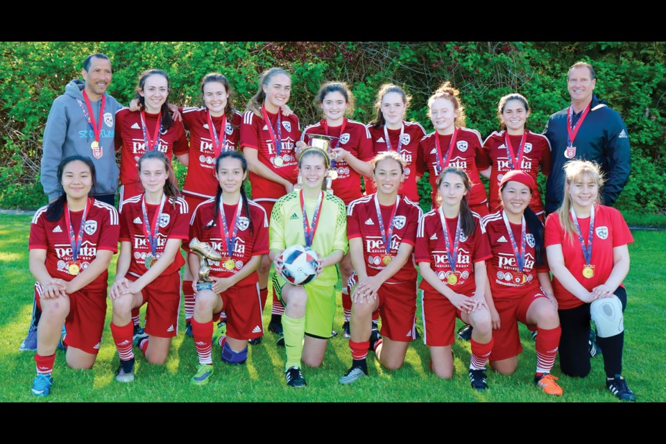 Richmond F.C. were crowned U16A Coastal Cup champions after a 3-2 win in penalty kicks over the Upper Vancouver Island Tide.
