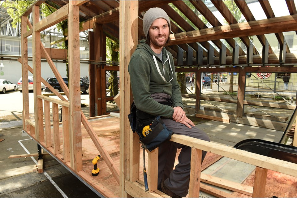 Callahan Tufts and a crew of volunteers will be building a tiny home as part of B.C. Tiny House Collective's Go, Go Tiny event outside Science World May 20. Photo Dan Toulgoet