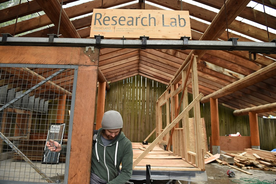 Callahan Tufts is fine-tuning his plans for a tiny house at his