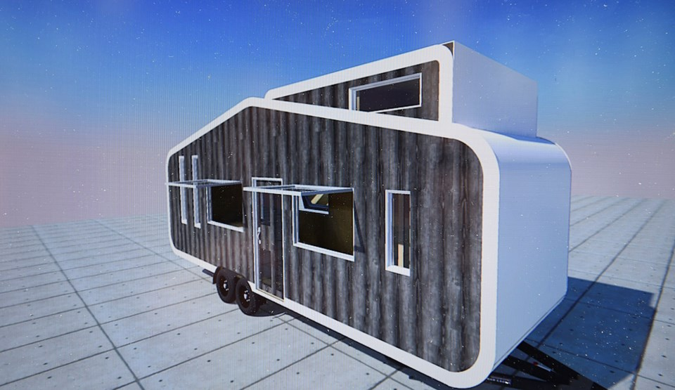 Callahan Tufts and a crew of volunteers are building a tiny house May 20 as part of the B.C. Tiny Ho