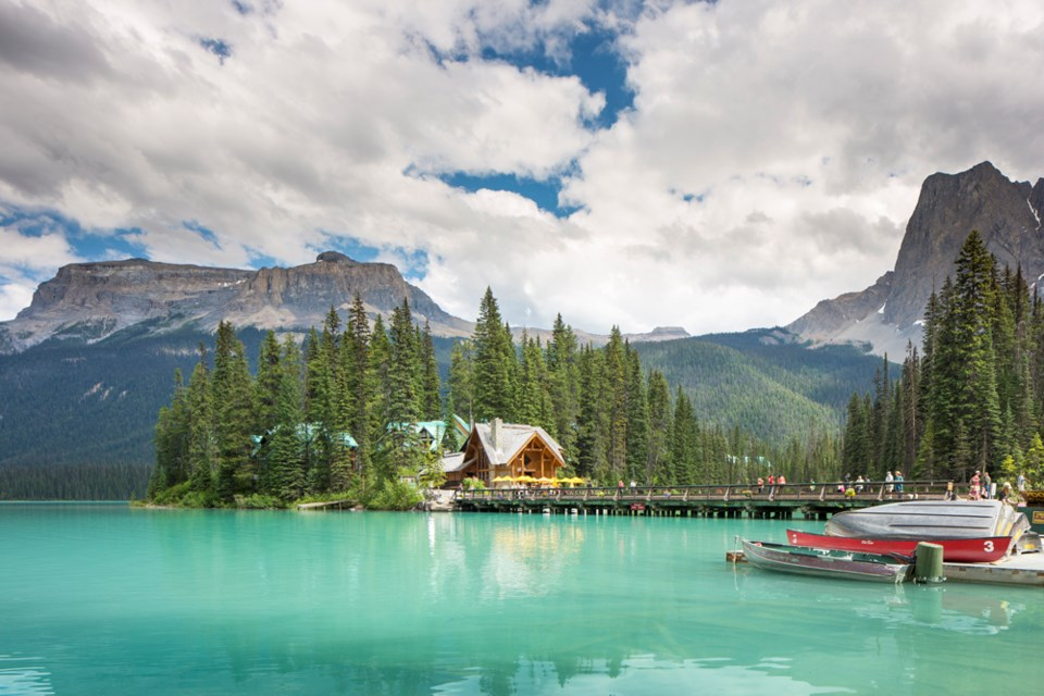 Emerald Lake Lodge takes its name from the area's jewel-toned water.