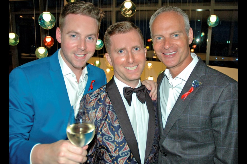 Vancity's Ryan McKinley, the Lazy Gourmet's Kevin Mazzone and TD's Grant Minish chaired CANFAR's inaugural West Coast fundraiser.