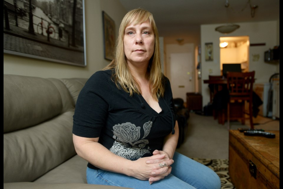 """Peggy Casey has lived at 322 Seventh St. for nearly eight years. She was recently served with an eviction notice citing """"major renovations."""" Casey and her neighbours are looking to the City of New Westminster to stop landlords from evicting tenants for so-called renovictions."""