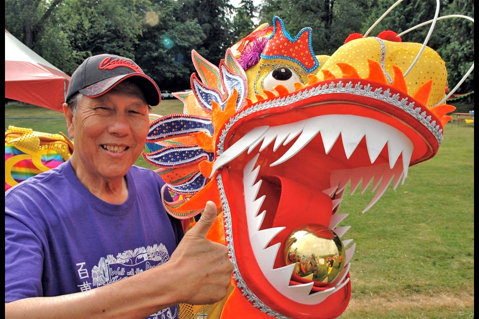 S.U.C.C.E.S.S. Foundation's chief fundraiser Sing Lim Yeo was all smiles as the annual Walk with the Dragon at Stanley Park raised more than $400,000 for the organization.